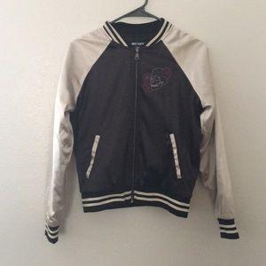 Satin zip up jacket